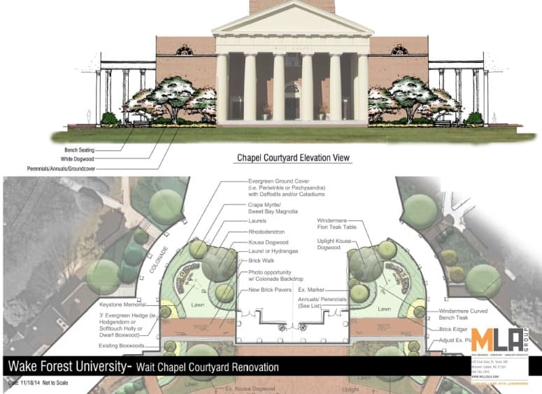 Landscaping update wait chapel sustainability at wake for Landscaping rocks wake forest nc