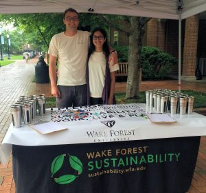 Graduating Sustainability Interns Stewart Rickert and Alyshah Aziz host the sixth annual Green Grad pledge.