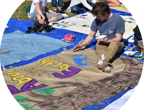 Earth Week 2019 Banner Painting Party